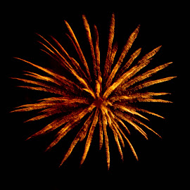 The Fourth II by Brenda Hooper - Abstract Fire & Fireworks ( abstract, 4th of july, fireworks, independence day, fire,  )