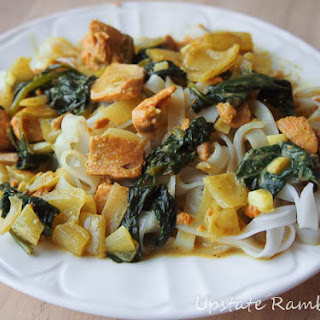 Thai Coconut Salmon with Spinach