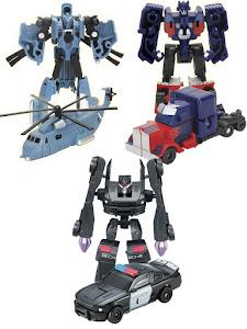 Набор роботов-трансформеров S, Полицейская машина, Вертолет и Тягач