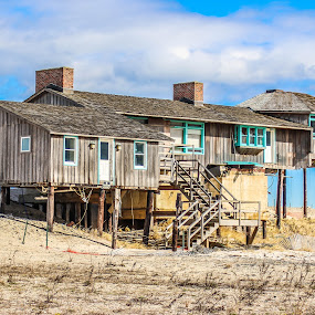 Hepburn House by Cheryl Thomas - Buildings & Architecture Decaying & Abandoned ( celebrity, sand, home, sky, ocean, house,  )