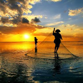 Sunrise Activity by Alit  Apriyana - Landscapes Sunsets & Sunrises