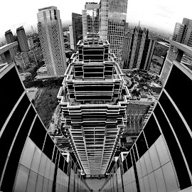 The Capital Resident by Agustinus Tri Mulyadi - City,  Street & Park  Skylines ( black and white, architecture,  )