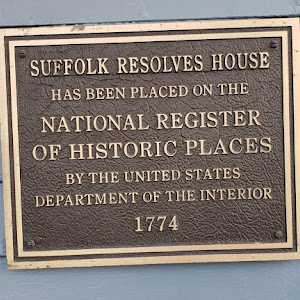 The Suffolk Resolves was signed in this house in Sept 1774 & then carried to the Continental Congress in PA by Paul Revere. Originally located on the Wharf, moved to current location in 1950. ...