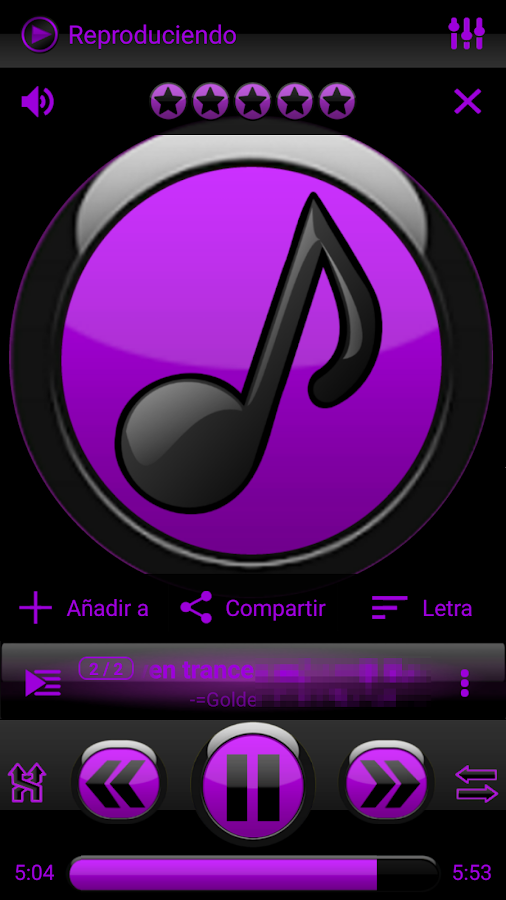 SKIN PLAYERPRO FUTURA PURPLE Screenshot
