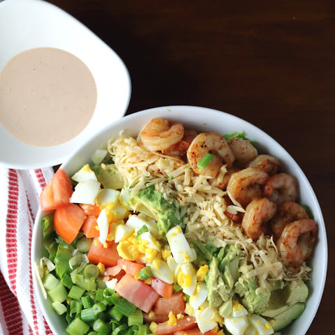 Mesquite Shrimp Cobb Salad + BBQ Ranch Dressing