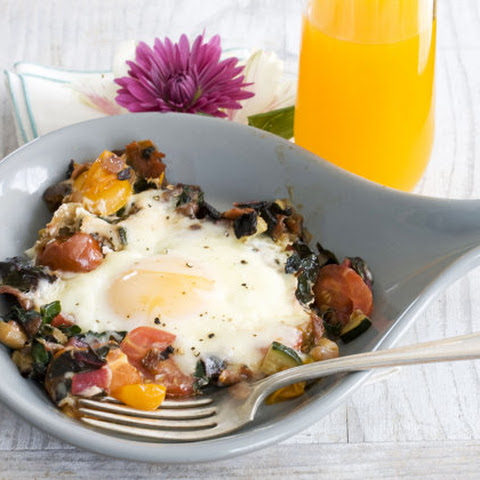 Skillet Garden Eggs (Breakfast Recipe Modified for the 17 Day Diet)