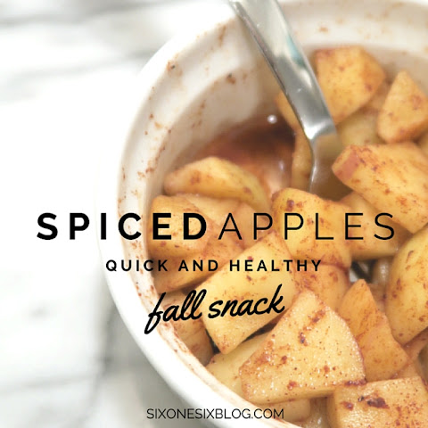 Healthy Spiced Apple Snack