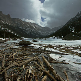 Mills Lake & Longs Peak by Justin Giffin - Landscapes Mountains & Hills ( mountains, ice, rocky mountains, lakes, colorado, weather, landscapes )