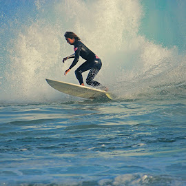 Coasting the Whitwash by Jeannine Jones - Sports & Fitness Surfing