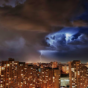 Thunderstorms in Kiev by Oxana Chorna - Landscapes Starscapes