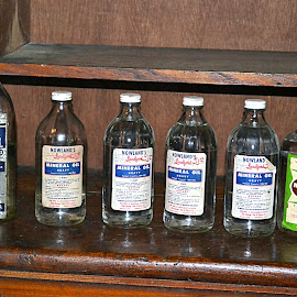 Mineral Oil Bottles by Crystal Bailey - Artistic Objects Antiques