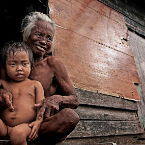 Grandma & Grandson by Azmil Omar - People Family