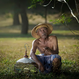 Bird Hunter by Syed Mohd Yusrie Al-Jefri - People Portraits of Men