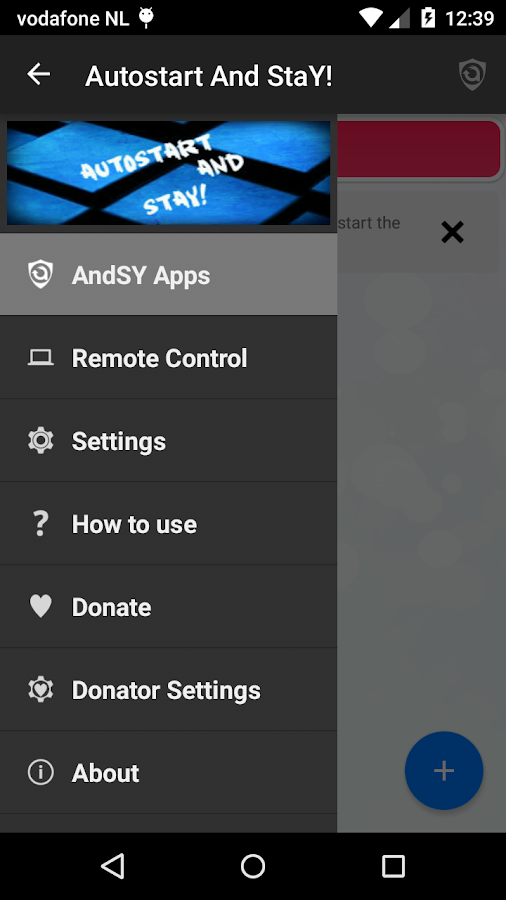 Autostart and StaY! Screenshot