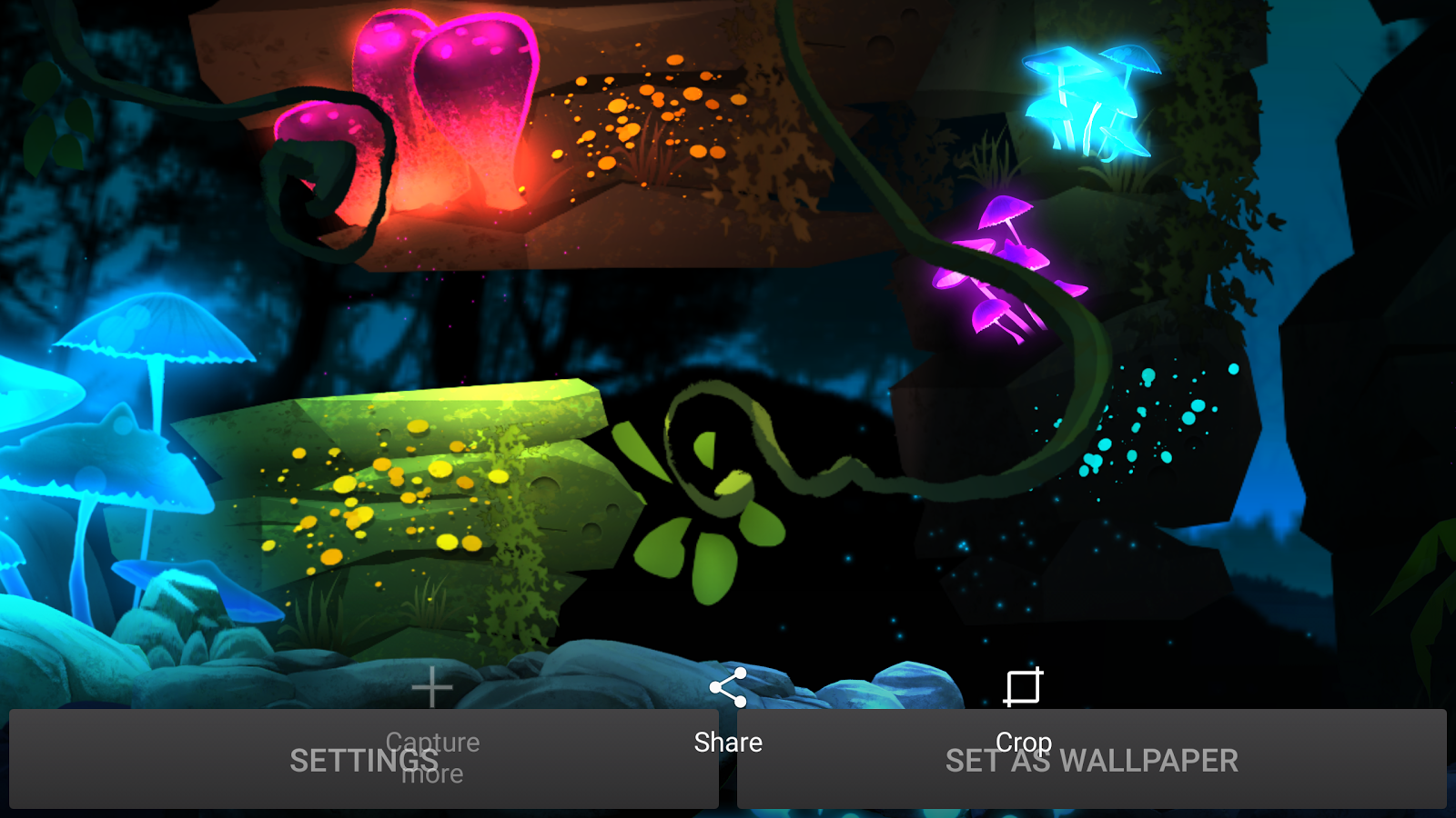 Glowing Jungle Live Wallpaper Screenshot 9