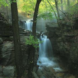 SPLENDOR  IN THE OZARKS by Dana Johnson - Landscapes Waterscapes ( waterfalls, waterscape, falls, cascades, ozarks, landscape )