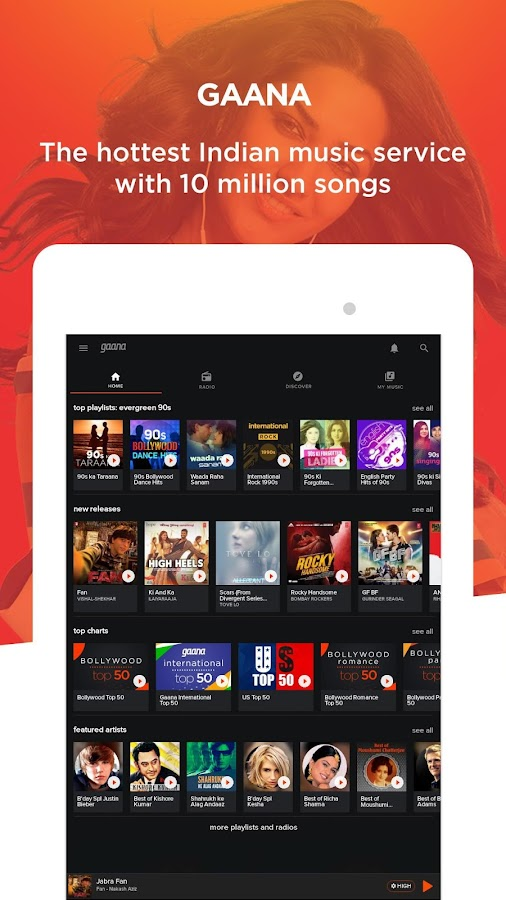 Gaana: Bollywood & Hindi Songs Screenshot 8