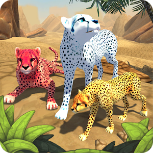 Play as cheetah! Create family! Breed Cubs! Upgrade home! Hunt in day and night! APK Icon