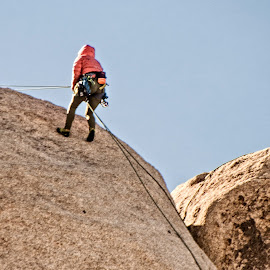 Heading Down by Richard Michael Lingo - Sports & Fitness Climbing ( climbing, fitness, sports, people, rocks )