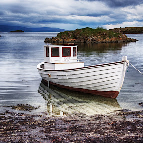 Tied Up by Richard Michael Lingo - Transportation Boats ( water, iceland, fishing, transportation, boat )