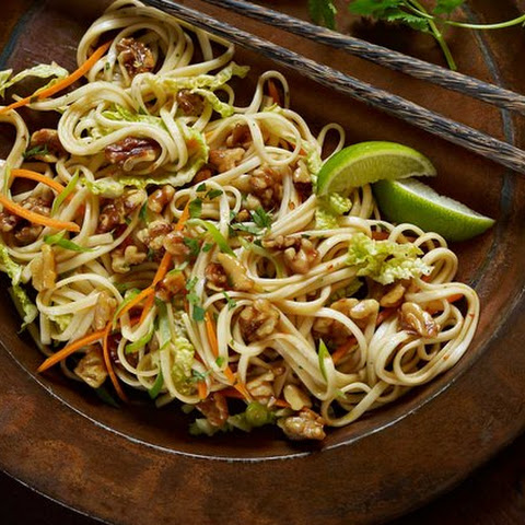 Walnut, Cabbage and Udon Noodle Salad