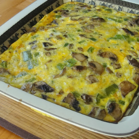 Oven Omelette with Sausage, Peppers, and Onions