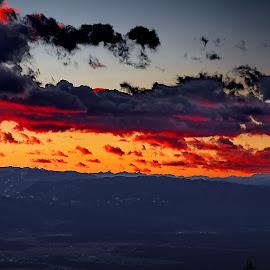 winter evening by Bernarda Bizjak - Landscapes Cloud Formations