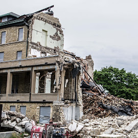 Out with the old by Sue Huhn - Buildings & Architecture Other Exteriors ( milwaukee, rubble, tear down, deconstruction, st. mary's academy )