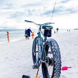 Beach Bike by Terry Watson - Transportation Bicycles