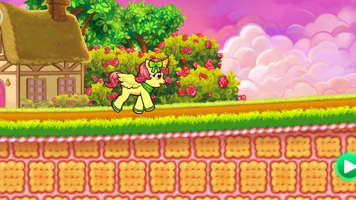 Run cute little pony race game - screenshot