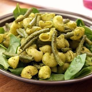 Pesto Pasta Salad Spinach Pine Nuts Recipes