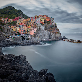 Manarola by Jimmy Kohar - City,  Street & Park  Vistas