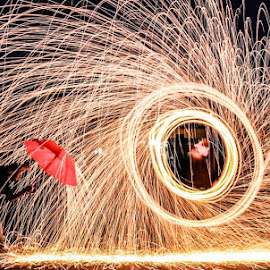 Steel wool fun. by Jeremy Rose - Abstract Light Painting