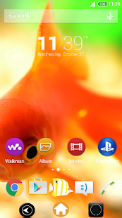 Fish-Xperia-Theme - screenshot