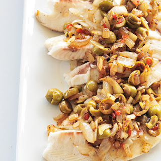Tilapia with Quick Olive Topping