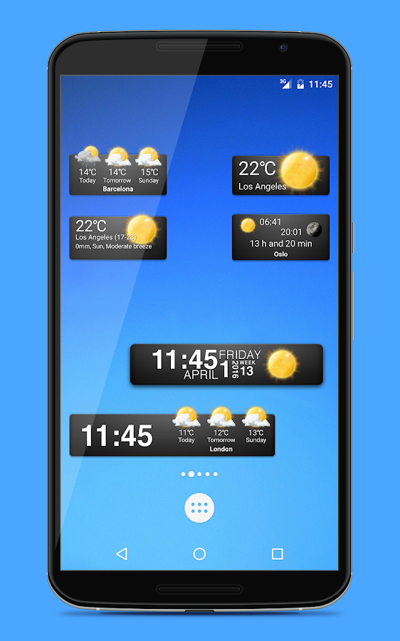 Weather widgets Screenshot 1