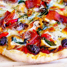 Grilled Chicken and Prosciutto Margherita Pizza