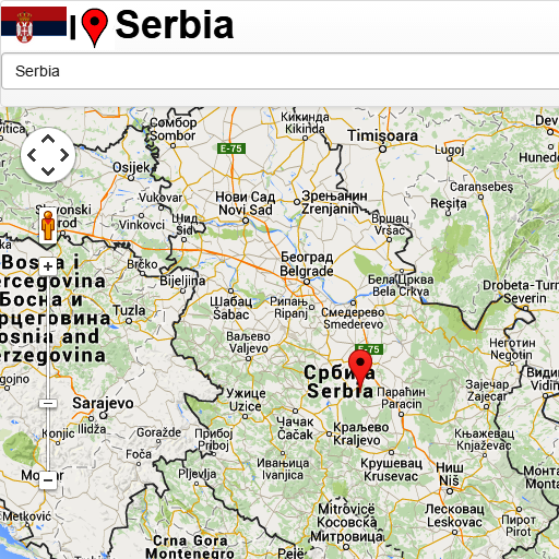 Android aplikacija Serbia map