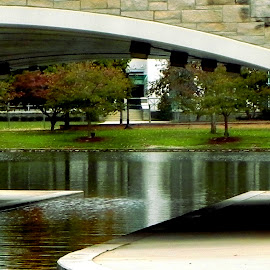 River Tunnel by Shawn Thomas - City,  Street & Park  City Parks ( huntsville, walkway, alabama, pond, river )
