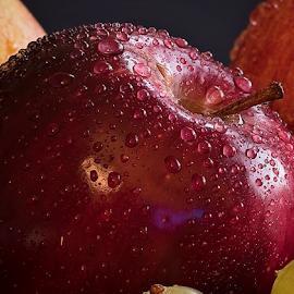 Apple by Paul Putman - Food & Drink Fruits & Vegetables ( colour, water drops, fruit, paul putman, still life, apple )