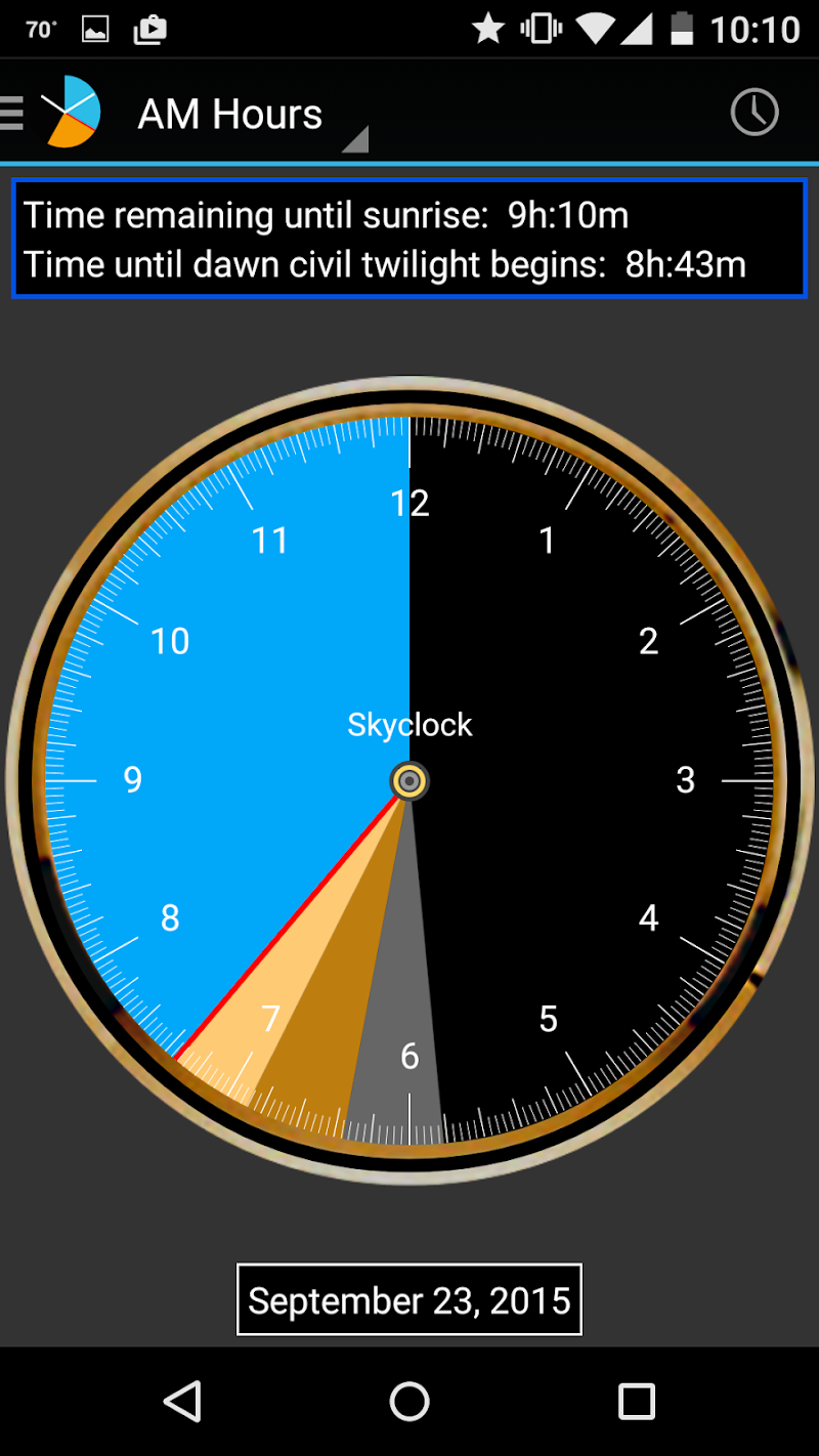 Skyclock Screenshot 2