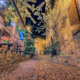 Street round the Old castle Villa Vella by Henk Smit - City,  Street & Park  Neighborhoods