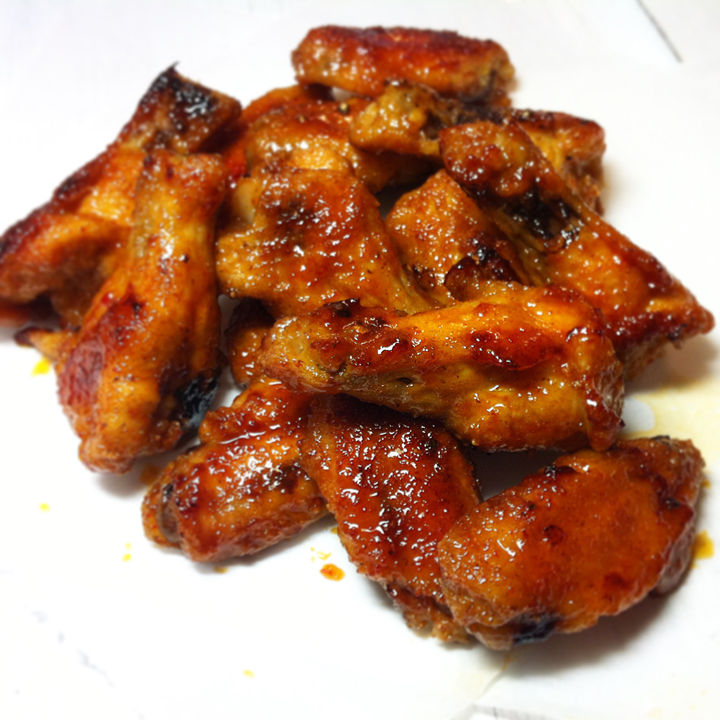 Honey Sriracha Chicken Wings Recipe | Yummly