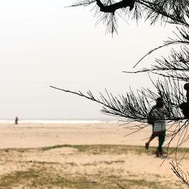 Sedin Dujone by Snehangshu Jha - Landscapes Beaches ( background, sea, focus, couple, beach )