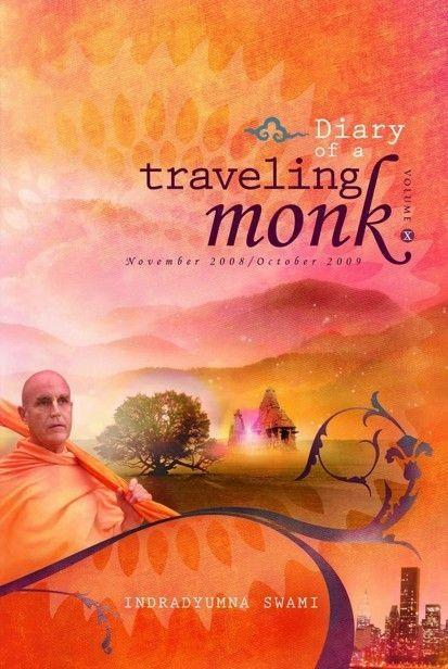 Diary of a Traveling Monk Vol. 10 (November 2008 - October 2009)  Inside you'll discover:  Akhilananda das recounts for Maharaja the ISKCON Prison Ministry's many successes with inmates becoming devotees — especially the transformation of the infamous Mr. Weed. Maharaja discovers more about the history of Vedic culture in Russia — the Swastika City, an ancient Vishnu deity, and the Russian Veda. Join Maharaja as he preaches in the City of Baku, said to be where Kasyapa Muni had his ashrama on the bank of the Caspian Sea.