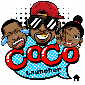 CoCo Launcher - Black Emoji, 3D Theme For PC (Windows & MAC)
