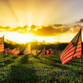 Memorial Day 2015 by Jun Robato - City,  Street & Park  Historic Districts ( asan, guam, sunsets, memorial day, landscapes )