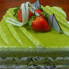 Green Tea Cake by Sharifah Hamidah - Food & Drink Cooking & Baking
