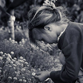 Always stop to smell the flowers by Daniela Gisi Havenga - Babies & Children Children Candids ( girl child, candid, flowers, spring, portrait )
