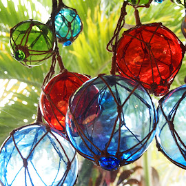 Bobbles by Jackie Sleter - Artistic Objects Glass ( red, blue, florida, sea, bulbes, nautical )